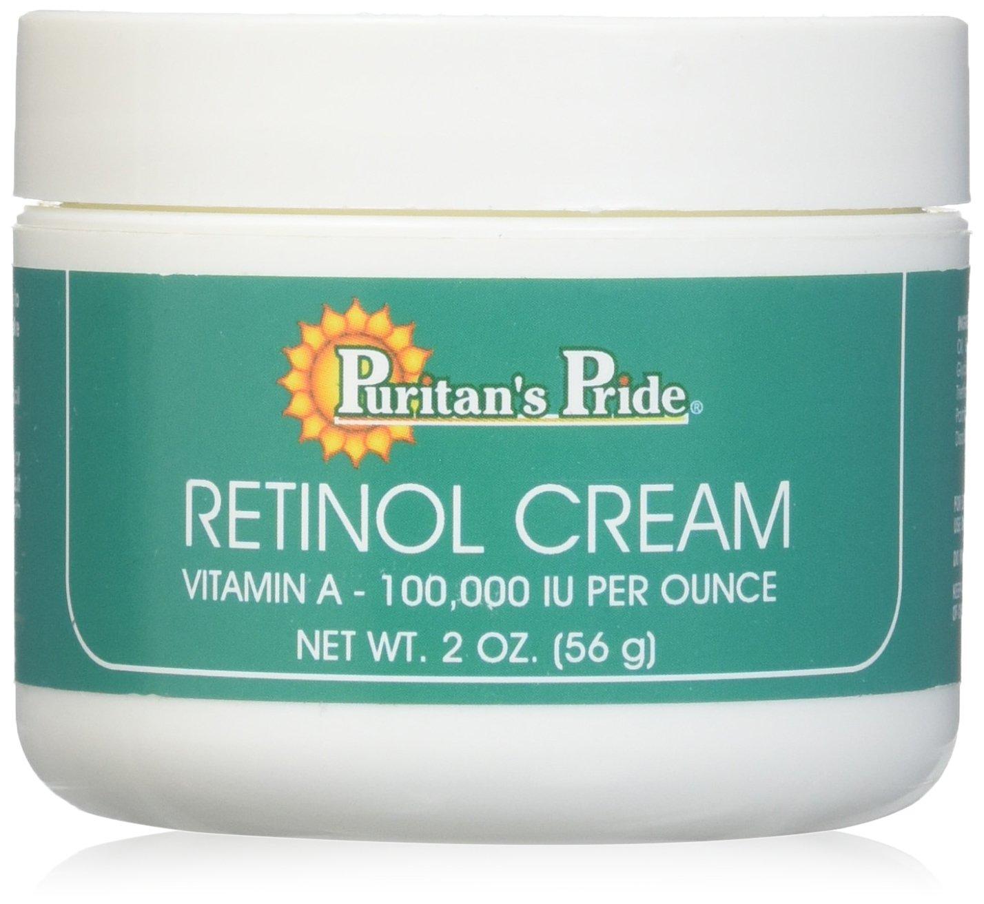 Retinol Cream 2 oz - Vitamin A 100,000 IU per oz (3 Jars) (3 Jars)
