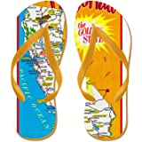 CafePress - California Map Greetings - Flip Flops, Funny Thong Sandals, Beach Sandals