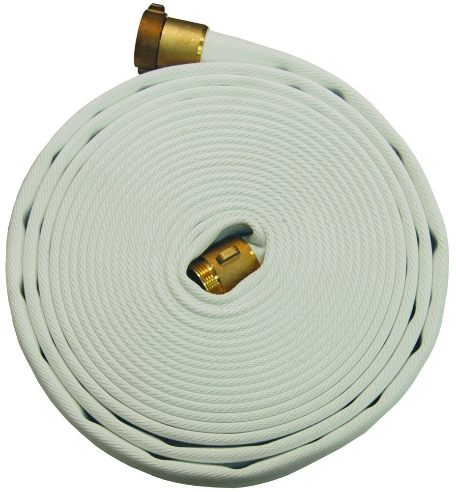Dixon Valve A325-50RAF Polyester 300# Single Jacket Fire Hose with Aluminum Rocker Lug, NST Female x NST Male, 135 psi Pressure, 50' Length, 2-1/2'' Hose ID