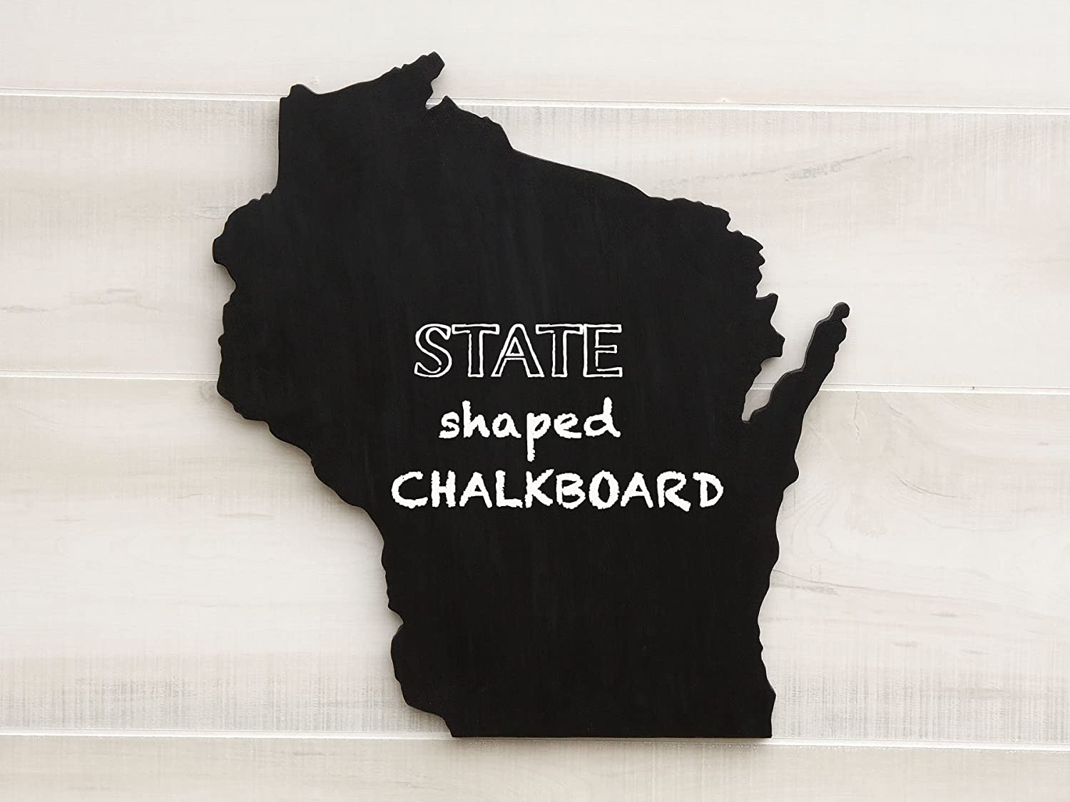 Wisconsin State Map Chalkboard Message Board. Additional US States O-W available. Solid ¾