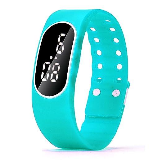 Zarup Para mujer para hombre del reloj LED de goma Unsex Fecha Deportes reloj digital pulsera