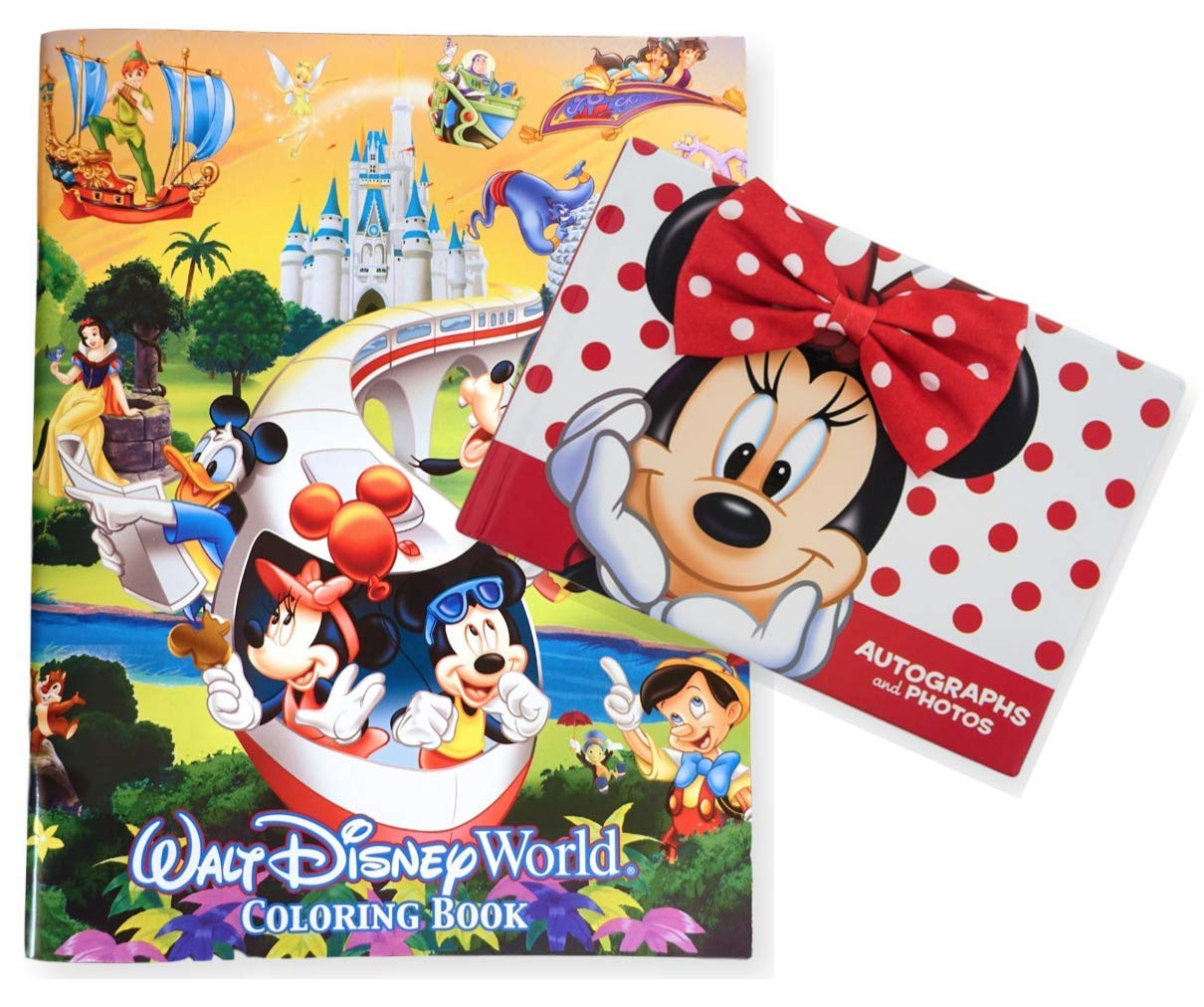 DisneyParks Minnie Mouse Autograph and Photo Book Plus and 96 Page Coloring Book