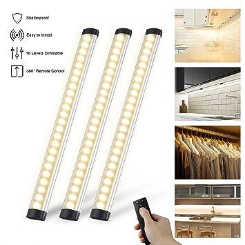 3er Set LED Unterbauleuchten Schrankleuchte 900LM ,LED Leuchtröhren ...