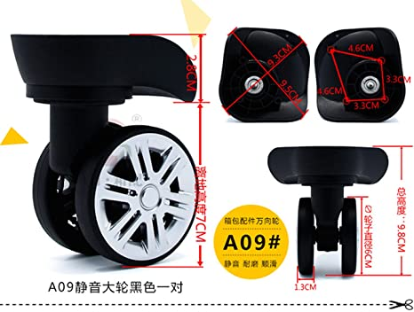 131e15ae2574 Amazon.com : A pair/set Mute Connected wheels for replacement ...