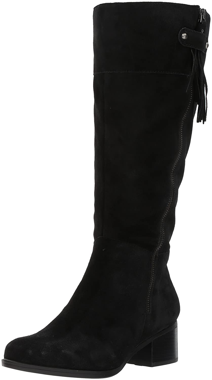 Naturalizer Women's Demi Wc Riding Boot B07173WHQ1 11 2W US|Black/Black
