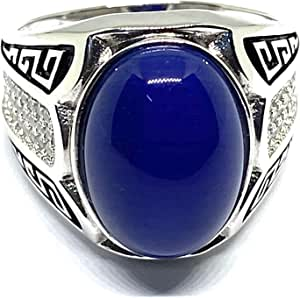 Silver plated ring for men