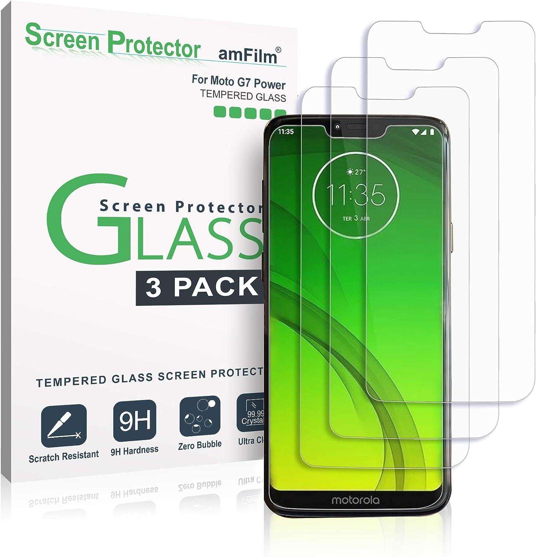 amFilm Moto G7 Power Protector Pantalla (3 Piezas), Cristal Vidrio ...