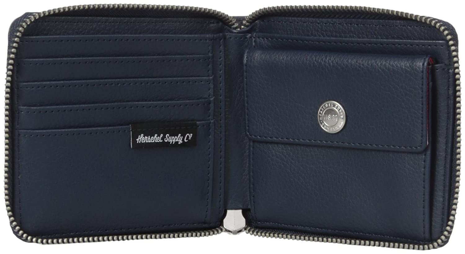 Herschel Supply Co. Men's Walt Leather Rfid Wallet, Navy Pebbled Leather  Rfid, One Size at Amazon Men's Clothing store: