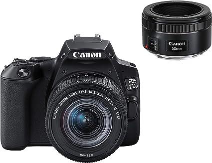 Canon Eos 250d Digitalkamera Mit Objektiven Ef S Kamera