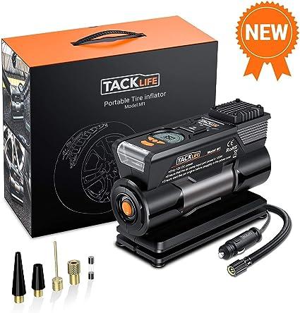 TACKLIFE M1 Compresor Aire Coche, Inflador Digital 150PSI, 40L/Min ...