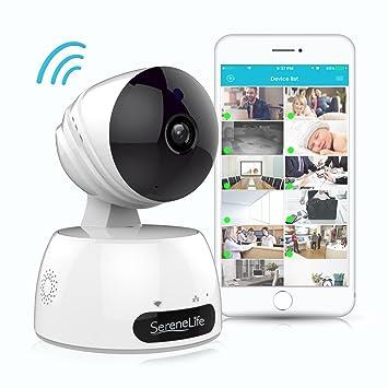 Cámara IP serenelife inalámbrico de interior – Cámara de vigilancia con red HD 720P para monitoreo