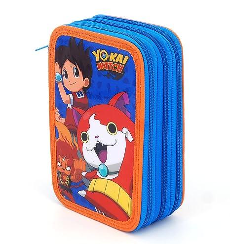 Yo-Kai Watch – Estuche con 3 cremalleras: Amazon.es: Oficina ...