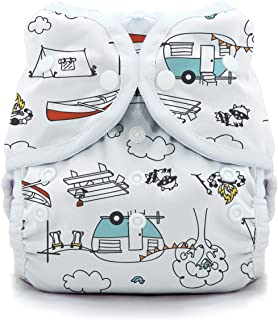 product image for Thirsties Duo Wrap Cloth Diaper Cover, Snap Closure, Happy Camper Size Two (18-40 lbs)