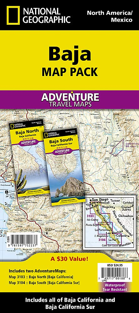 Baja California, Mexico, Map Pack Bundle: Travel Maps International Adventure Map National Geographic Adventure Map Idioma Inglés: Amazon.es: Maps, National Geographic: Libros en idiomas extranjeros