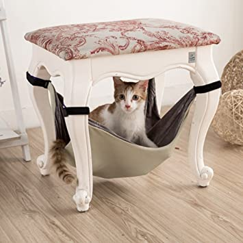 Switty Gato Hamaca Cama, Mascotas Gatito Animal Colgando Litera Soñoliento Uso con Cajón, Jaula
