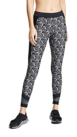 2fac19ffe27f0 adidas by Stella McCartney Women's Run Printed Leggings, Black/White,  X-Small