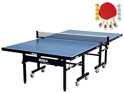 afc8ec36744 Image Unavailable. Image not available for. Color  JOOLA Inside Table  Tennis Table with Net Set ...