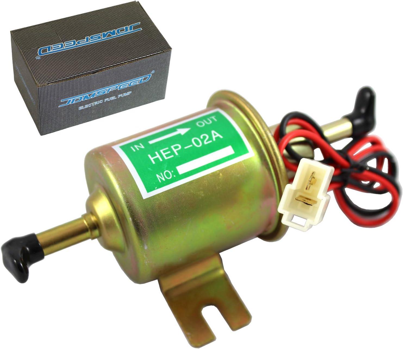 JDMSPEED Universal 12V Heavy Duty Electric Fuel Pump Metal Solid Petrol 12 Volts