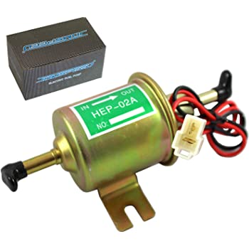GoodQbuy 12V 4-6 PSI Universal Heavy Duty Standard Metal Facet Automotive Electric Fuel Pump for Gasoline /& Diesel 5//16 8mm Brass Fitting