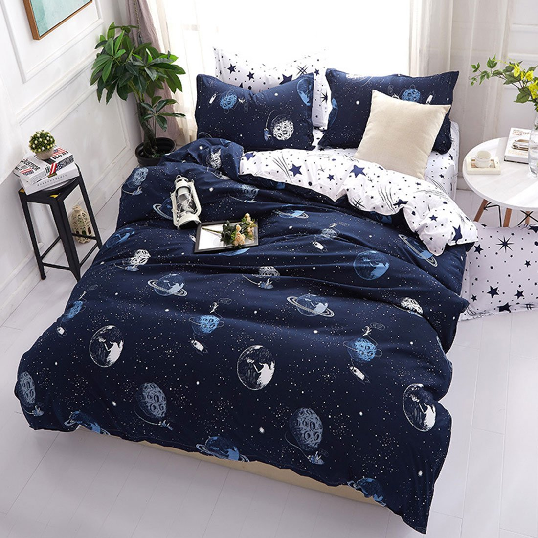 Hotel Luxury 3pc Duvet Cover Set 100% Cotton Bedding Star Wars Printed Ultra Soft Top Premium Lightweight Microfiber Bedding Collection with Zipper Closure Queen Size
