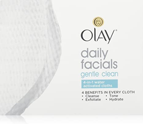 OLAY 4-in-1 Daily Facial Cloths Sensitive 33 Each (Pack of 3) Lip Therapy Rosy Lips 7g. + Lip Therapy Cocoa Butter 7g., Imported By Vaseline