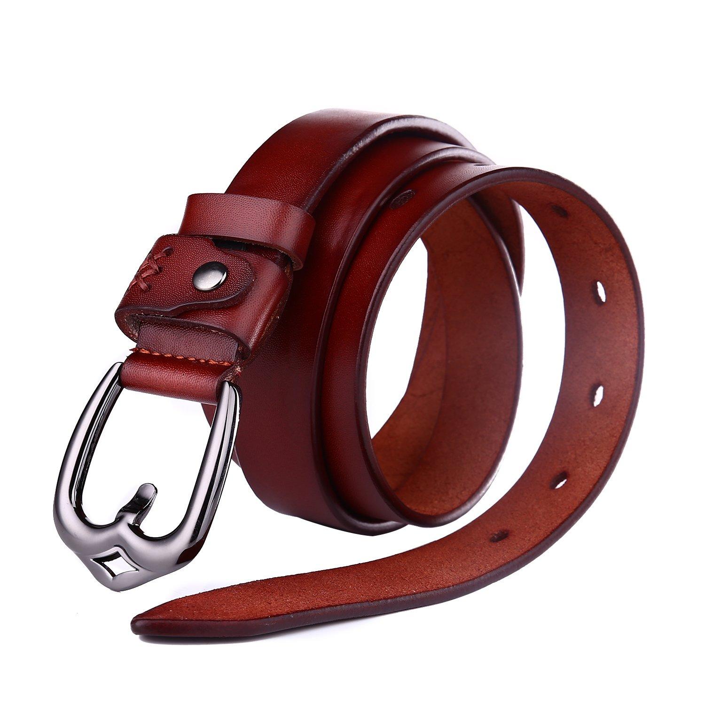 Beltox Fine Belts for Women Full Grain Leather Fashion Click Buckle in Gift Box