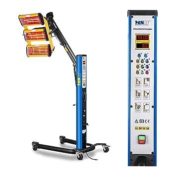 MSW IR-DRYER3000.1 Secador de Pintura Infrarrojo para Carrocería Coche (3300 W