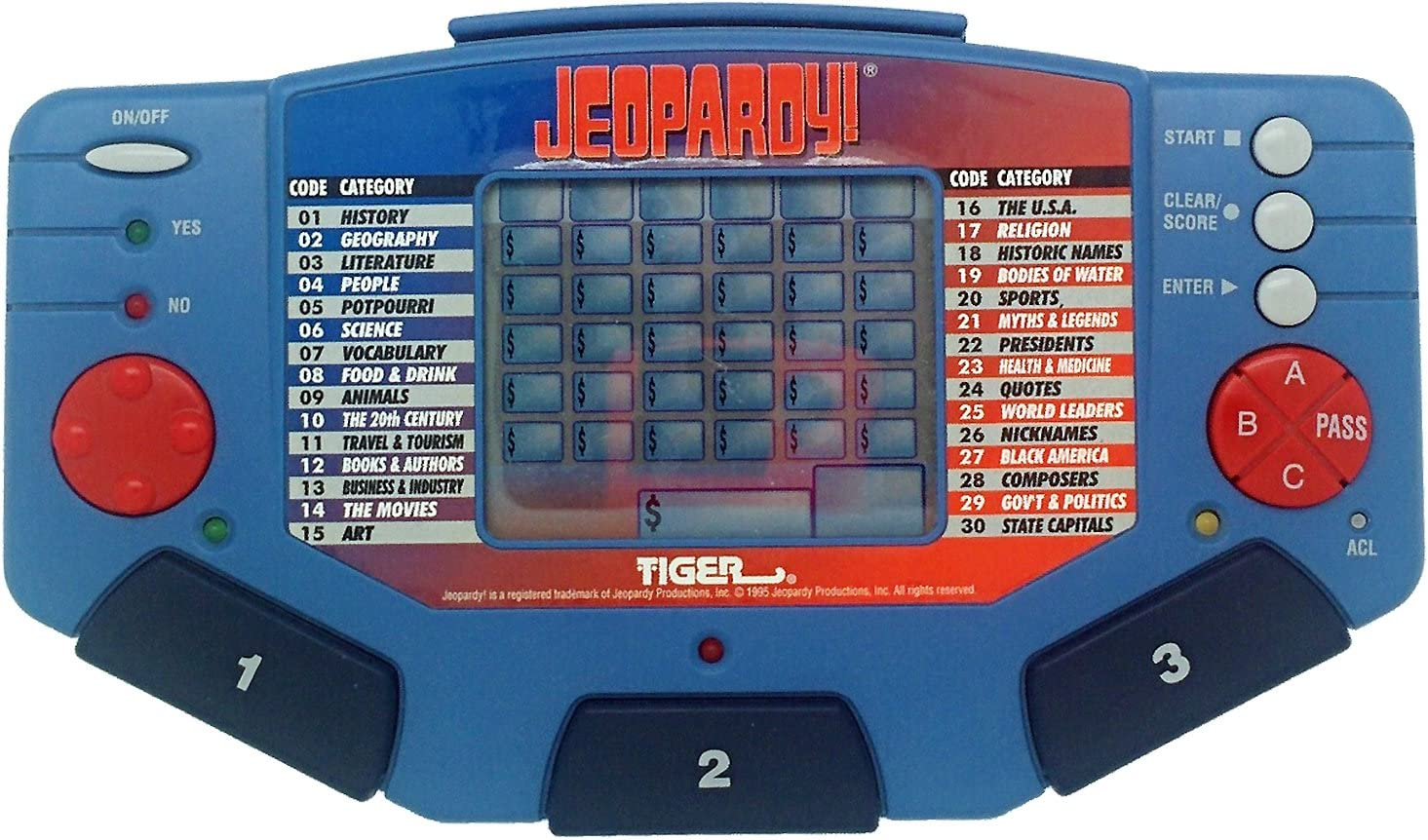 Tiger Jeopardy Electronic LCD Game