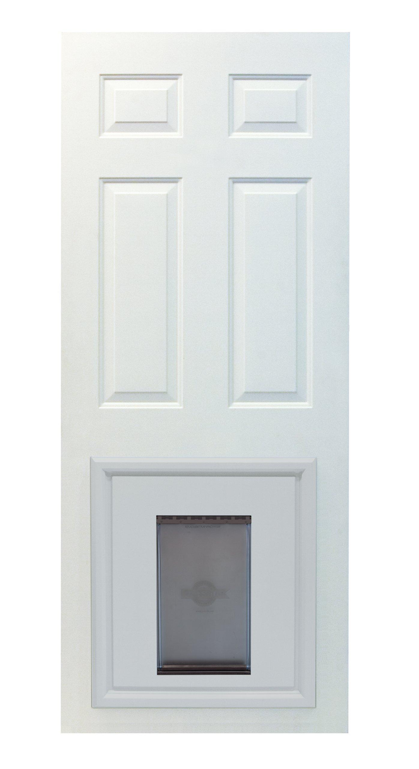 PetSafe Panel Pet Door, Paintable White, Large