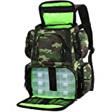 Lixada Fishing Tackle Backpack Multifunctional Fishing Tackle Utility Bag Large Waterproof Tackle Bag Storage with 4…