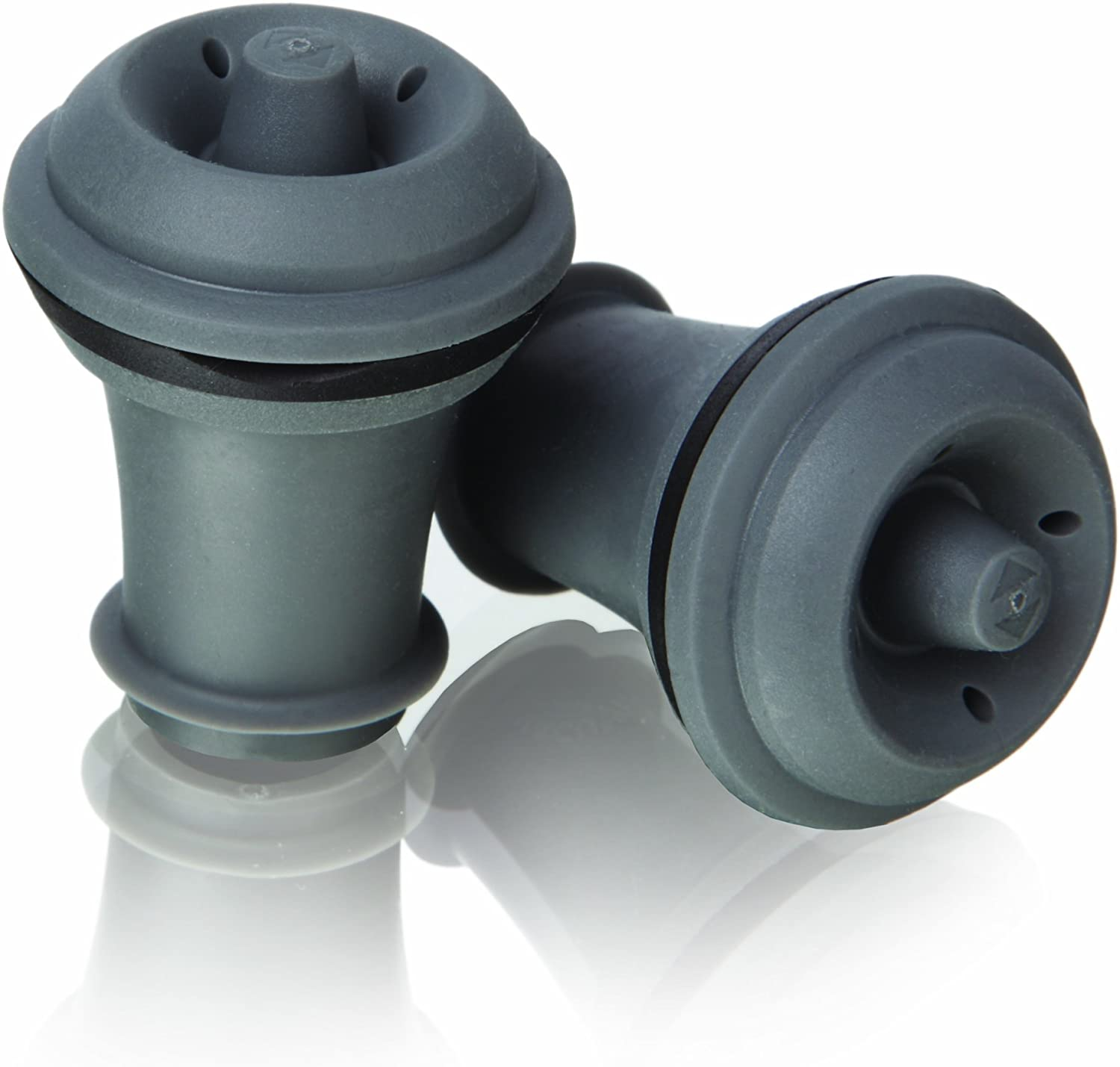 Vacu Vin Wine Saver Vacuum Stoppers Set of 2 – Grey