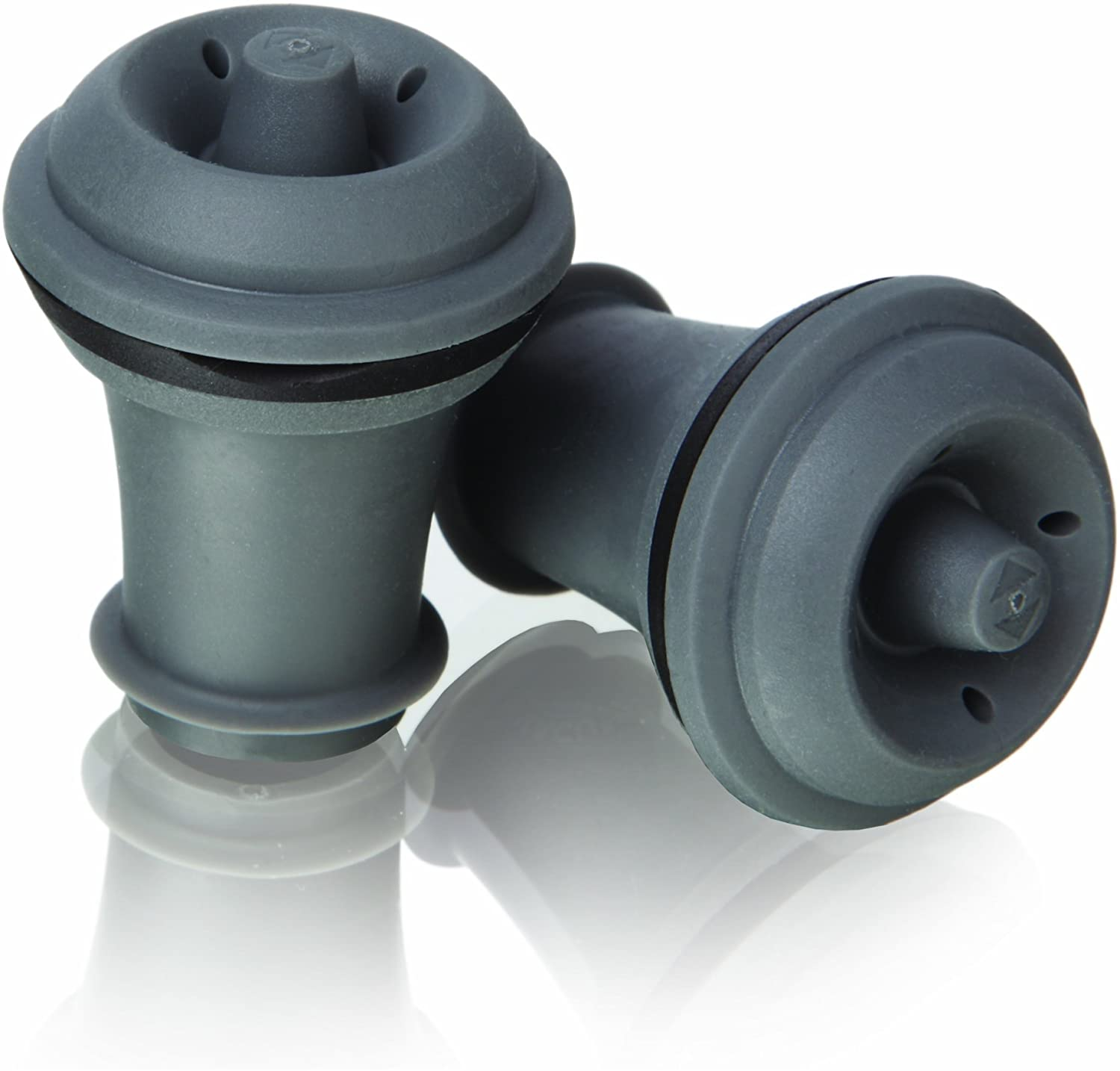 B00004SAF5 Vacu Vin Wine Saver Vacuum Stoppers Set of 2 – Grey 71p4NJOnWvL