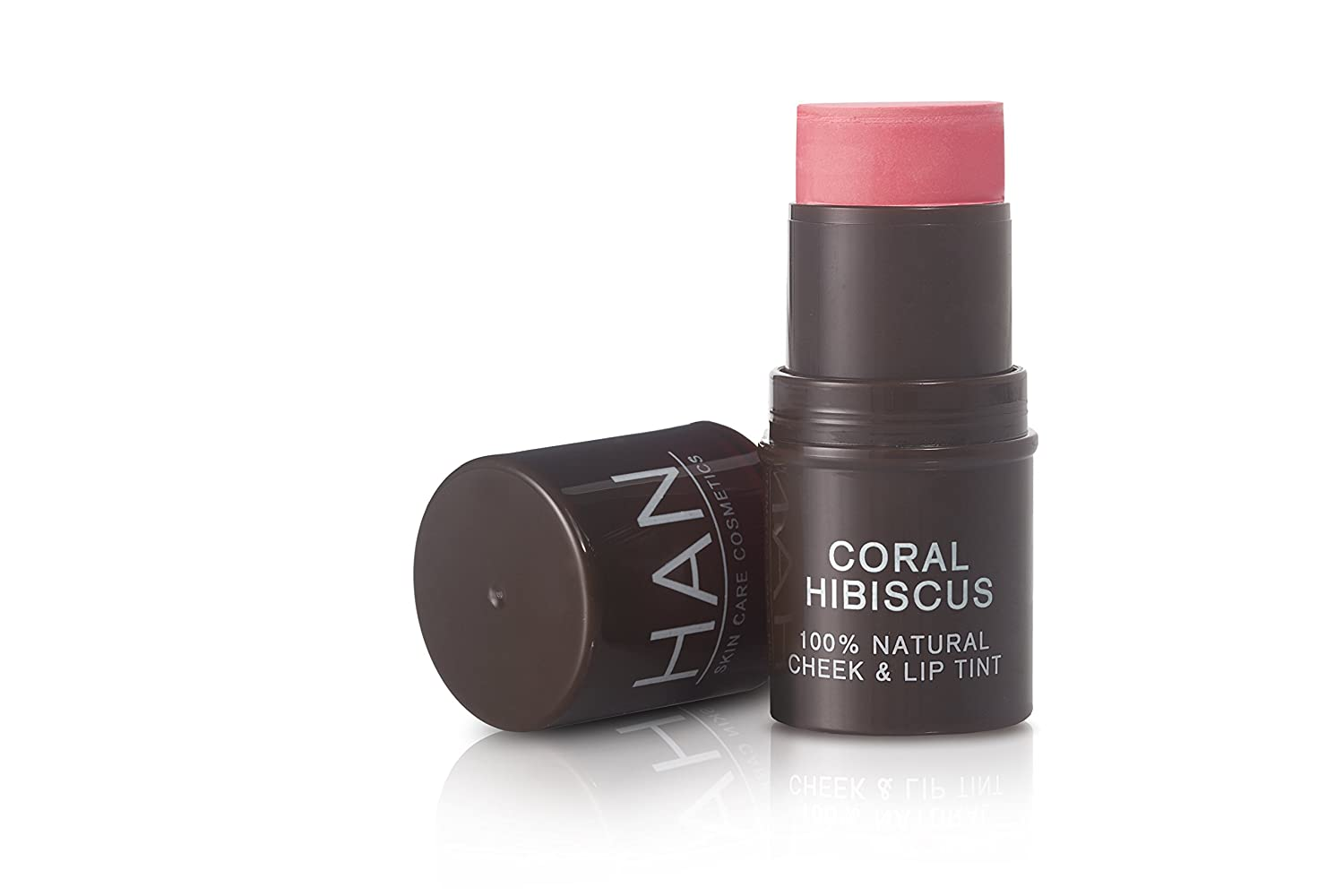 HAN Skincare Cosmetics All Natural Cheek and Lip Tint, Coral Hibiscus