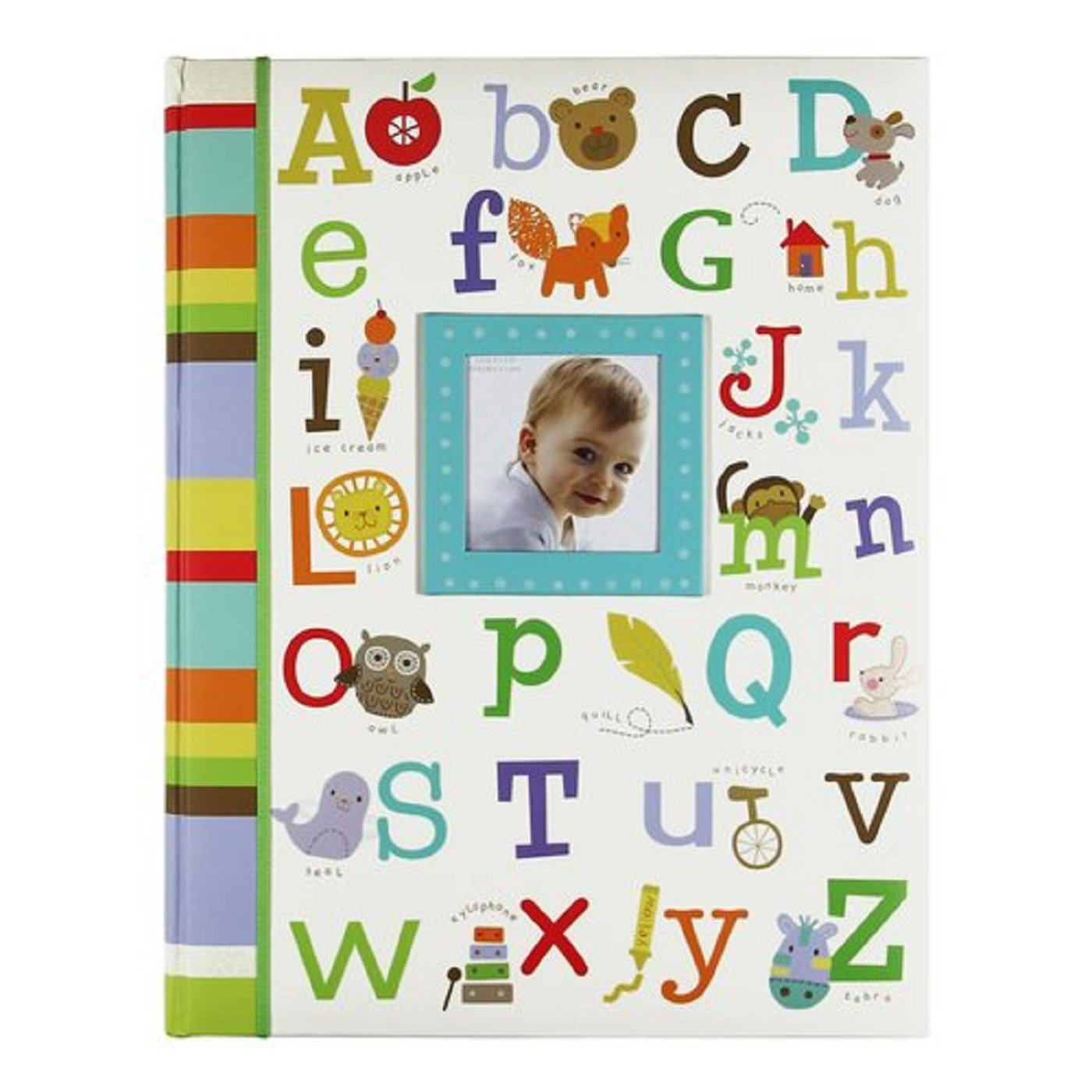 Baby's First Memory Book Alphabet w/ Pictures, Green, Blue, Brown, Yellow, Orange C.R. Gibson MB2-12025
