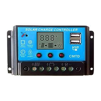 80A 12V//24V PWM LCD Solar Battery Regulator Charge Discharge Controller /& USB GA