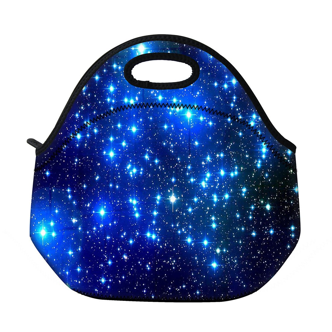 Lunch Bags Tote Insulated Neoprene School Gifts for Kids Lunch Box for Women mens Travel Camping Storage Containers Bags Starry Night Mydours