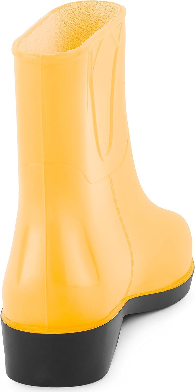 Ladeheid Botines Botas de Agua Zapatos Mujer LAZT201801: Amazon.es ...