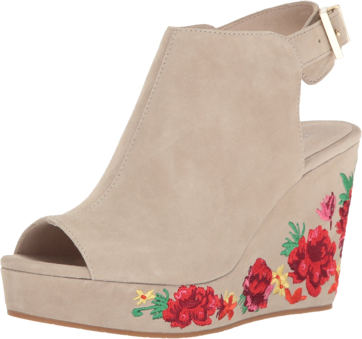 Kenneth Cole New York Women's Olani Wedge Sandal, Taupe, 8 M US