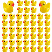 100 Pieces Mini Resin Slime Charms Duck Yellow Miniature Duck Figures Micro Fairy Garden Landscape Aquarium Dollhouse…