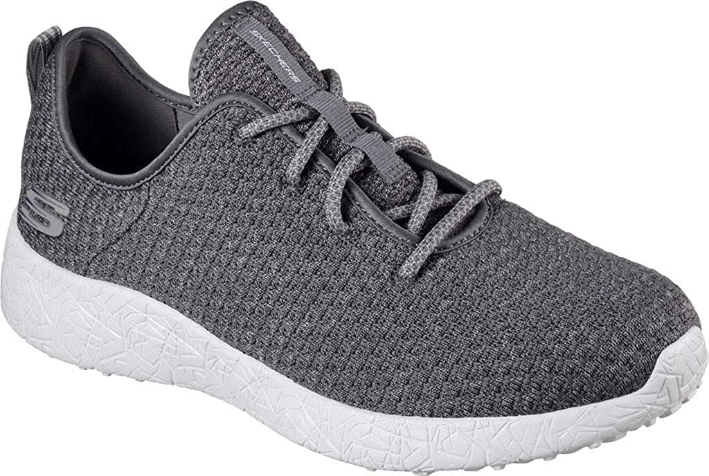 Skechers Mens Burst Donlen Turnschuhe,Charcoal,US 7 M