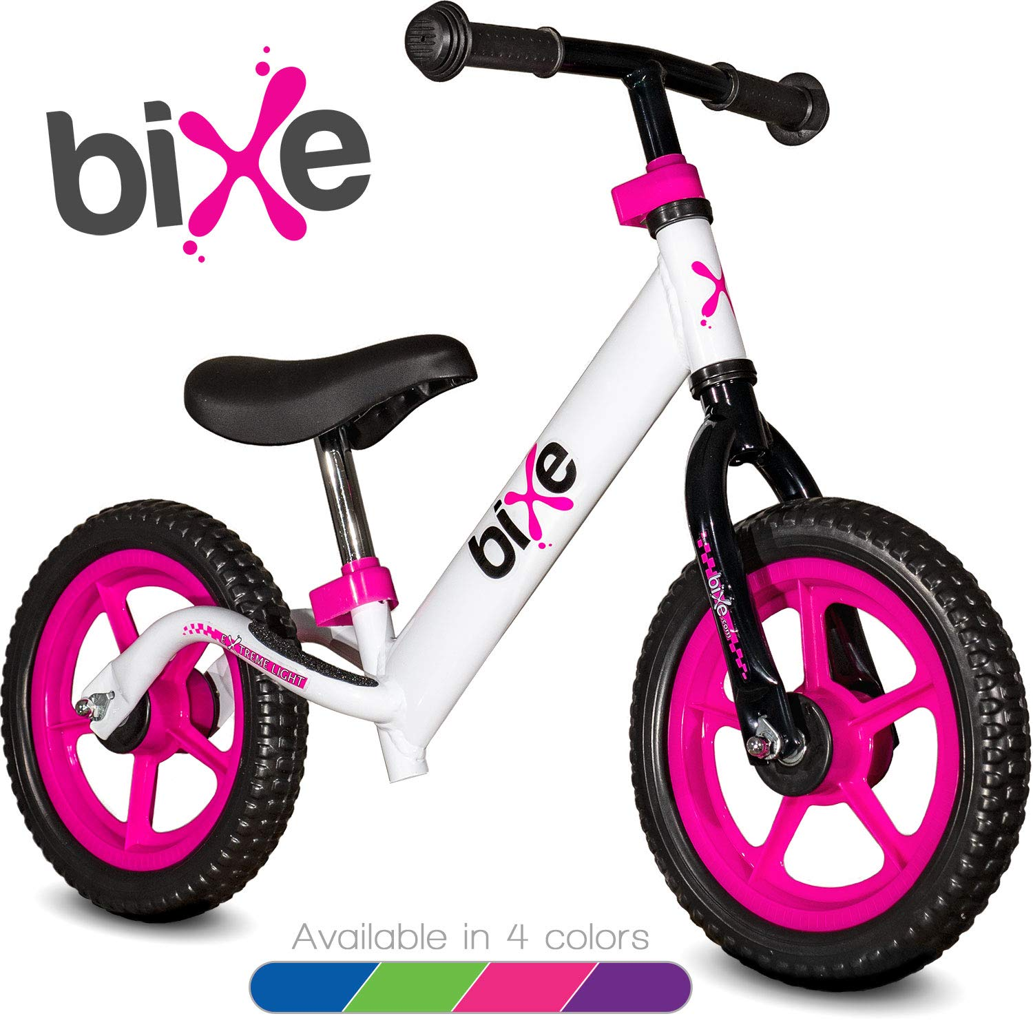 Pink (4LBS) Aluminum Balance Bike for Kids and Toddlers - 12'' No Pedal Sport Training Bicycle for Children Ages 3,4,5,6.