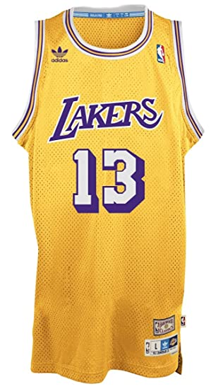official photos 4f17b 78b22 Wilt Chamberlain Los Angeles Lakers Adidas NBA Throwback ...