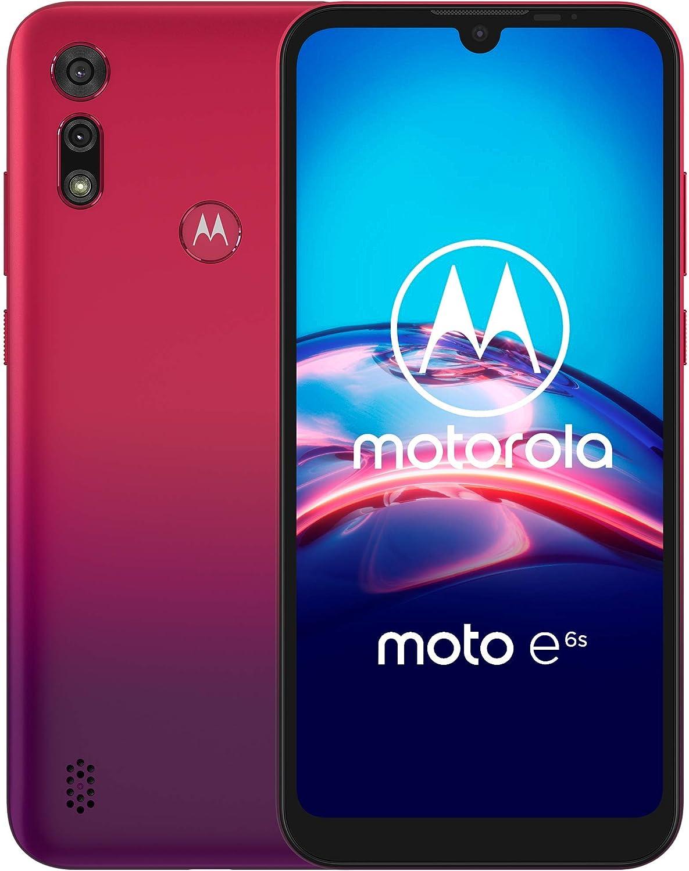 Motorola Moto E6s | Unlocked | International GSM only | 2/32GB | 13MP Camera | 2019 | Red, XT2053-2