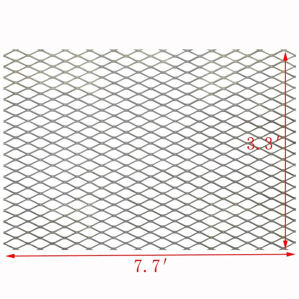 FixtureDisplays Steel Expanded Metal Mesh Sheet Flattened 3.3' Width, 7.7' Length 18112 by FixtureDisplays