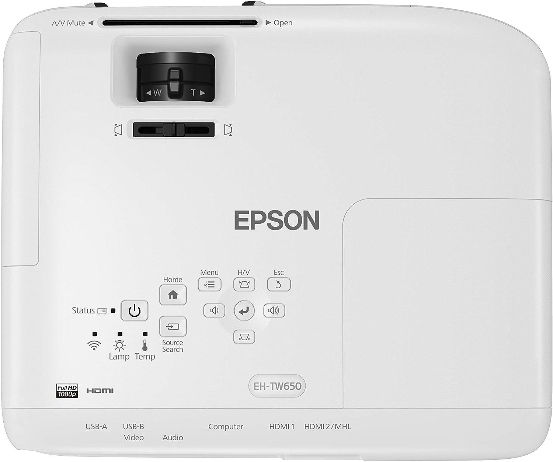 Epson EH-TW650 Video - Proyector (3100 lúmenes ANSI, 3LCD, 1080p ...