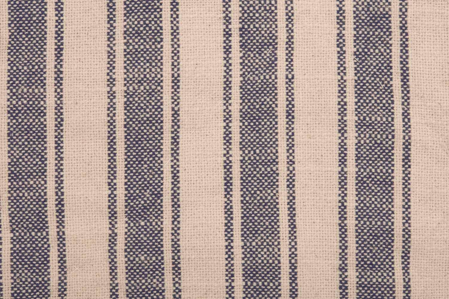 21 x 27 Piper Classics Market Place Blue Ticking Stripe Standard Size Pillow Sham Farmhouse Style Bedding in Blue and Natural Cream