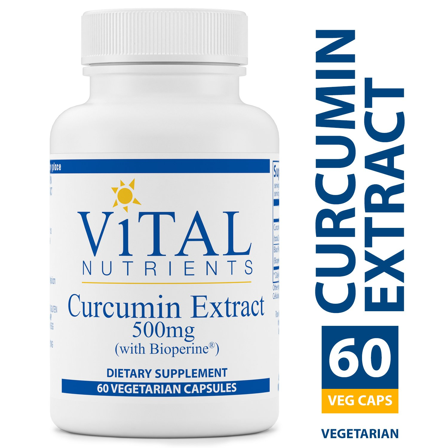Vital Nutrients - Curcumin Extract 500 mg (with Bioperine) - Nutritional Support for Normal