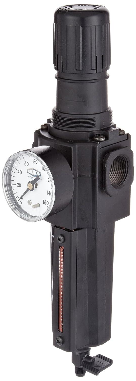 212 SCFM 3//4 Port Size 5-125 PSI 1//2 Size 3//4 Port Size Dixon Valve /& Coupling 1//2 Size Dixon B74G-6MG-MB Norgren Series Manual Drain Filter//Regulator with Metal Bowl and Sight Glass