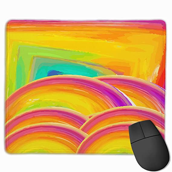 Amazon com: Yellow Abstract Circle Square Personality Mouse