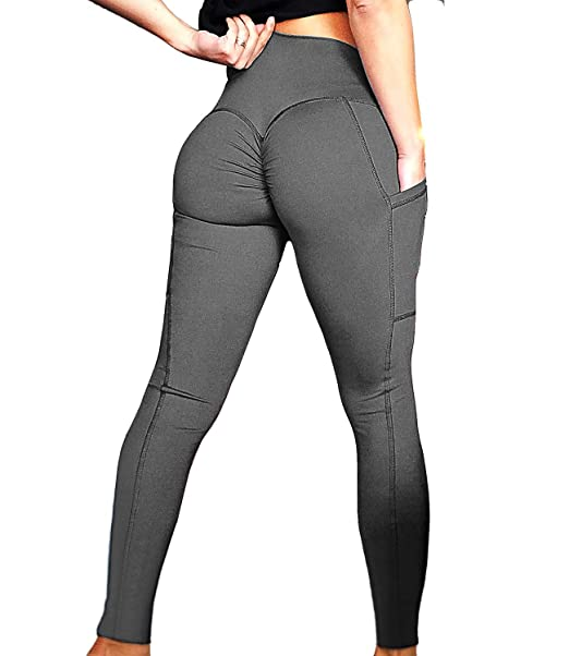 FITTOO Women Scrunch Butt Pocket Yoga Pants Sport Workout Leggings Trousers Tight